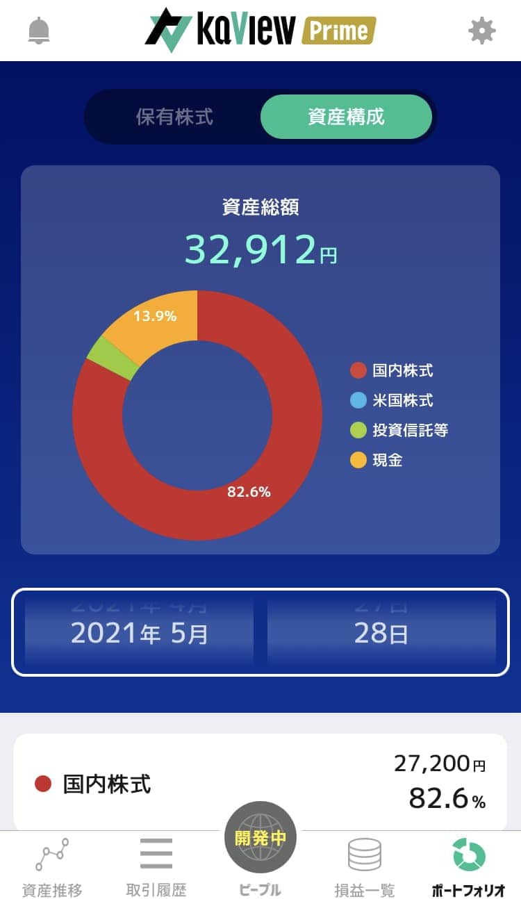 株管理アプリ ポートフォリオ